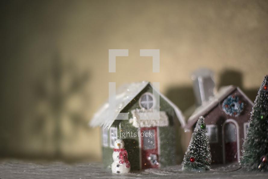Winter scene figurine