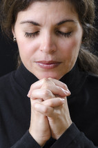 woman in peaceful prayer