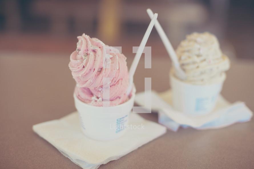 cups of ice-cream