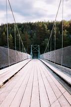 a suspended bridge
