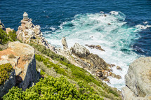 Sea cliffs and the ocean below.