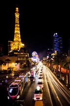 Vegas strip at night