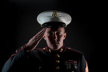 saluting marine