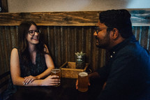 a couple at a bar