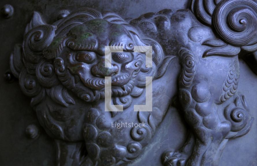 Dragon sculpture in Japan