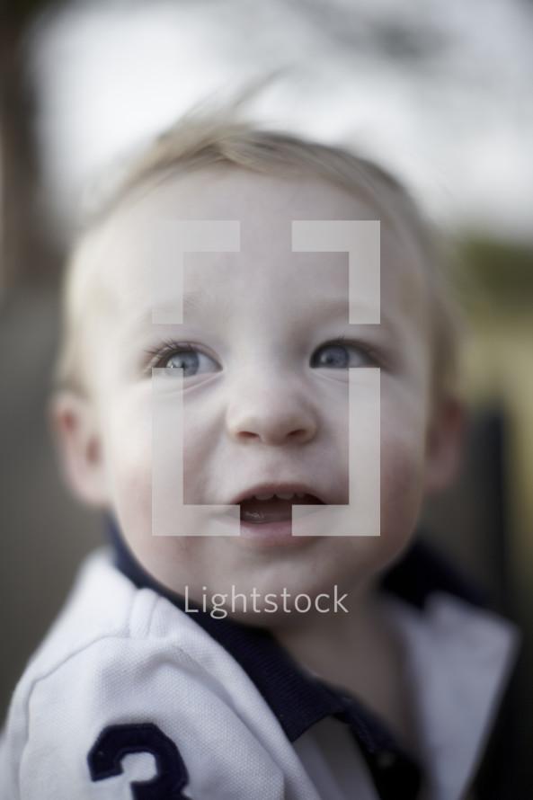 Happy toddler boy