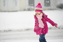 child in the snow