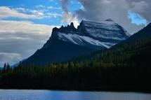 jagged mountain peak