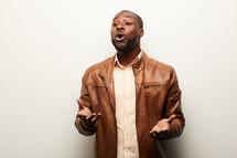 an African American man singing
