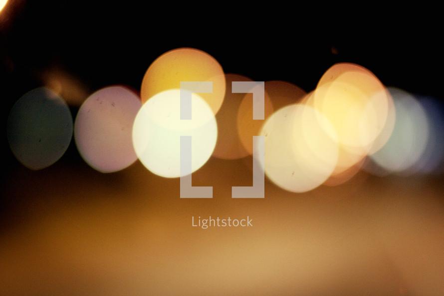 Bokeh glow lights