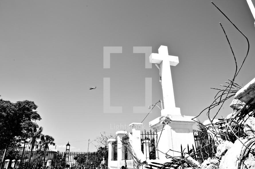 A cross statue
