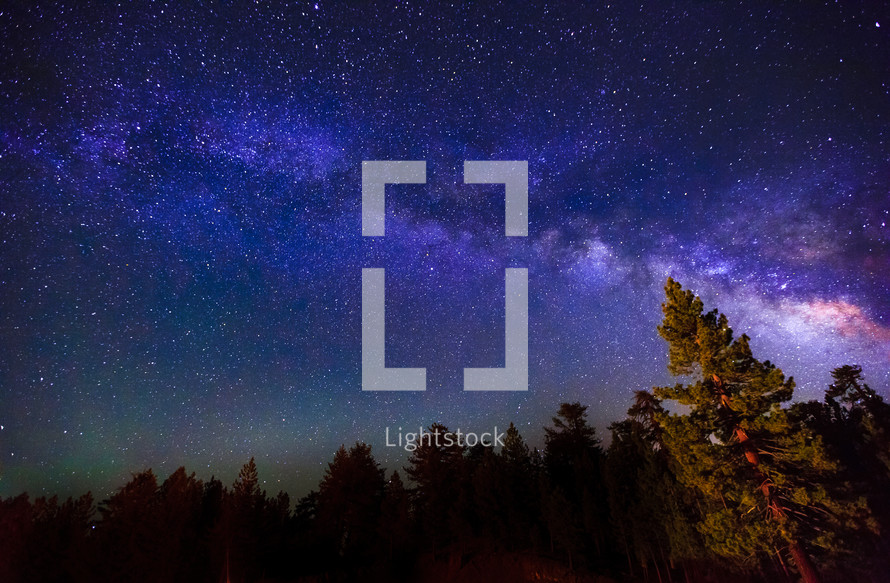 Milky Way, long exposure