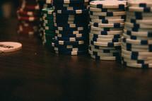 stack of poker tokens