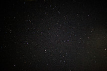 Night sky full of stars.