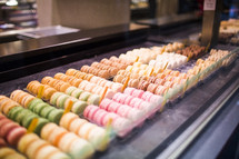 cookies in a bakery window