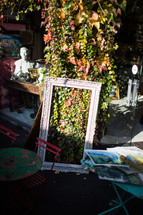 antiques in a street market in France