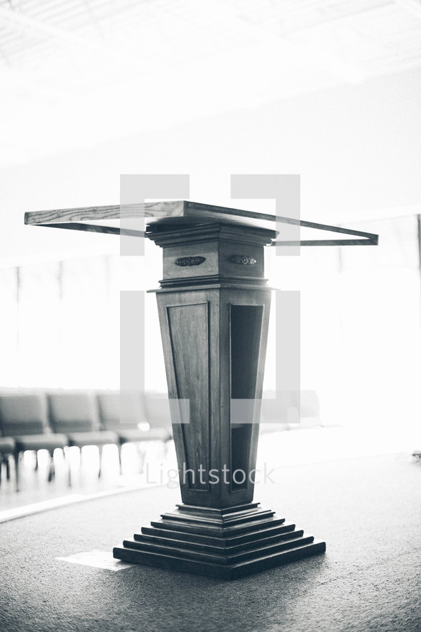 podium - chairs
