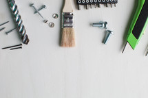 Tools at the top of a white background.