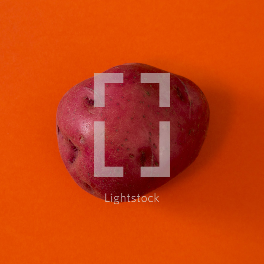 red potato on red