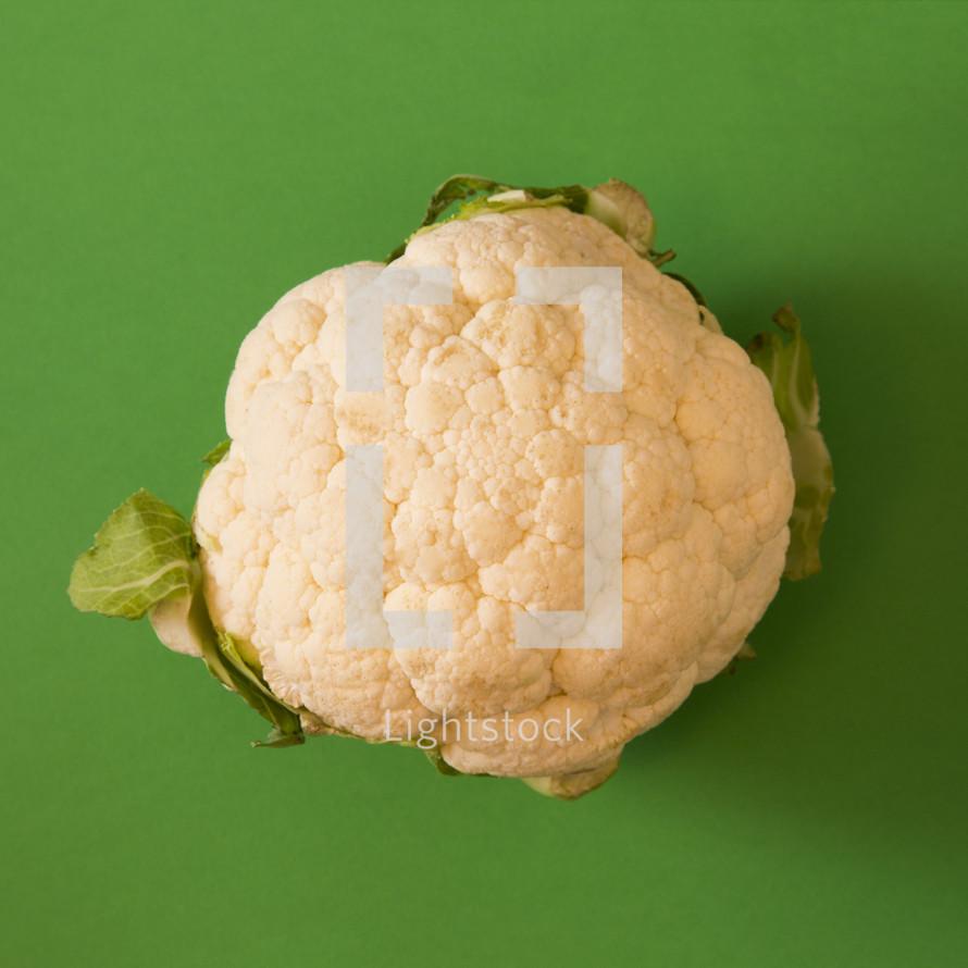 cauliflower on green