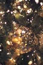 Christmas ornament and Christmas lights