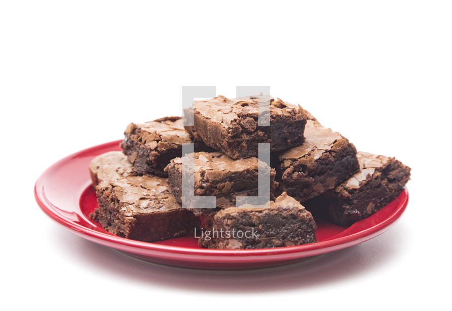 plate of brownies