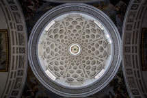 ornate ceiling of a dome