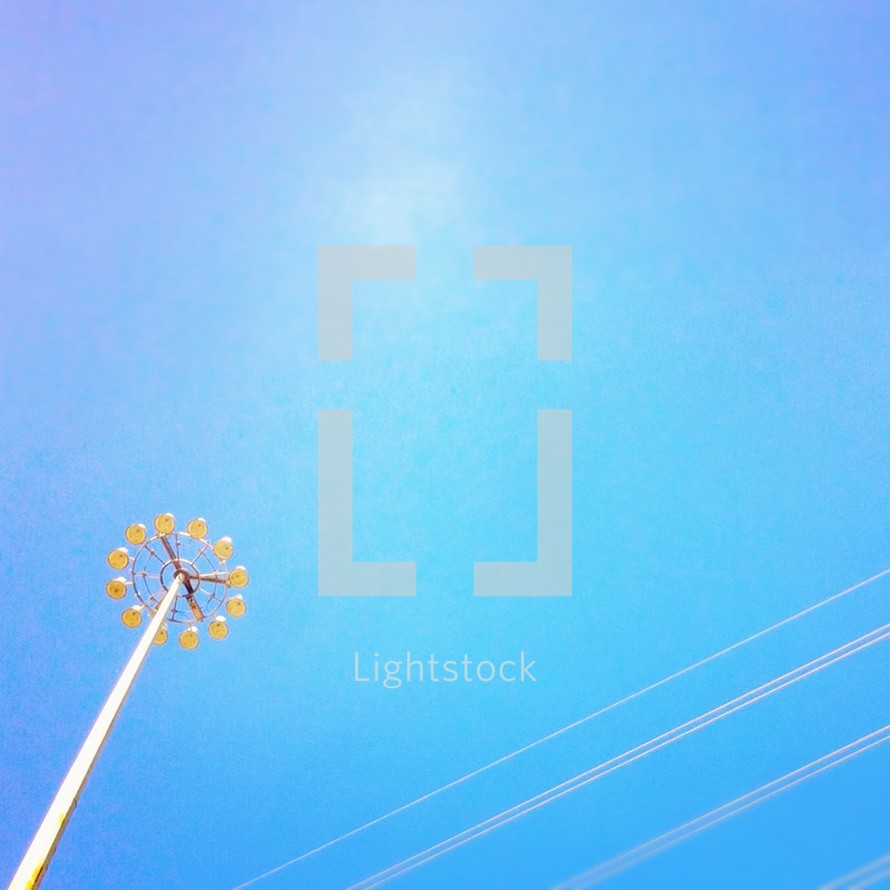 Street lights in open sky
