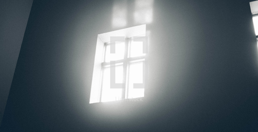 Window with cross outline
