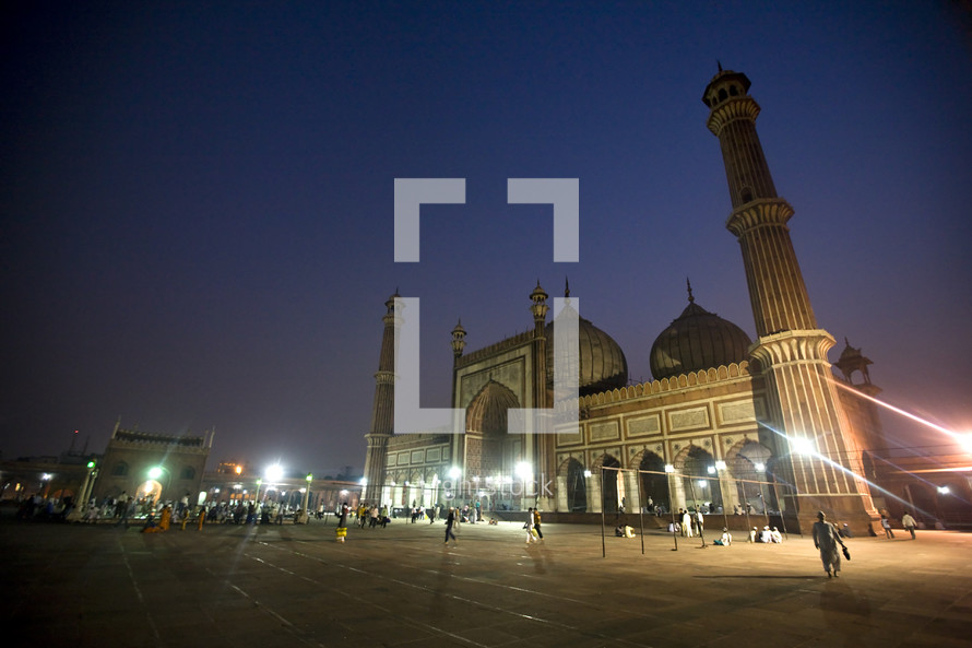 The Taj Mahal at night in India