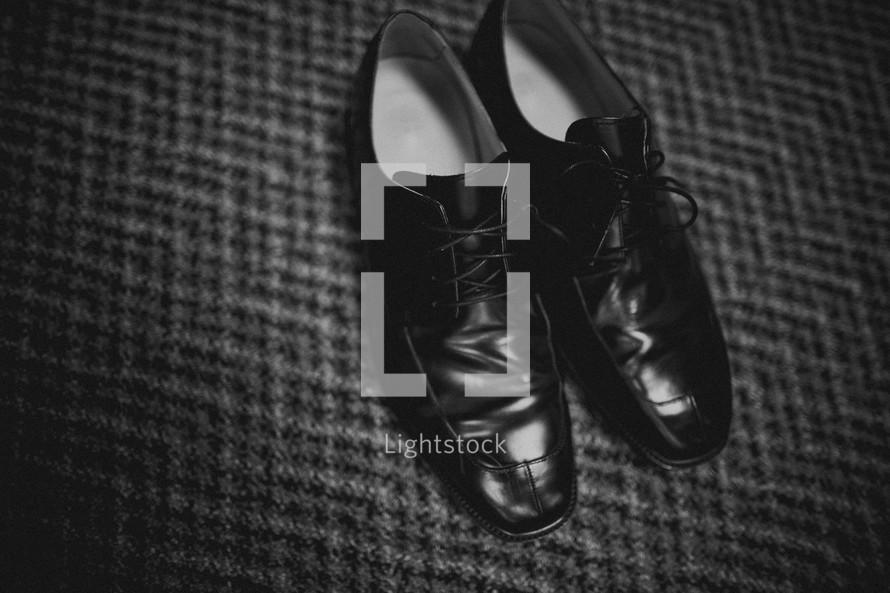 Men's worn dress shoes