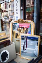 shop window with mirror in Paris