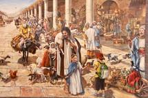 Ancient market scene Jerusalem