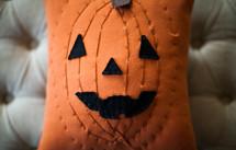 a jack-o-lantern pillow