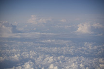 clouds from an airplane window