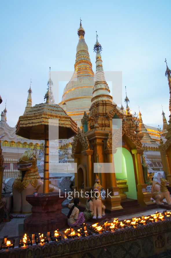 The Shwedagon Pagoda in Yangon, Myanmar