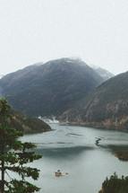 view of a mountain lake