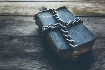chains around a Bible