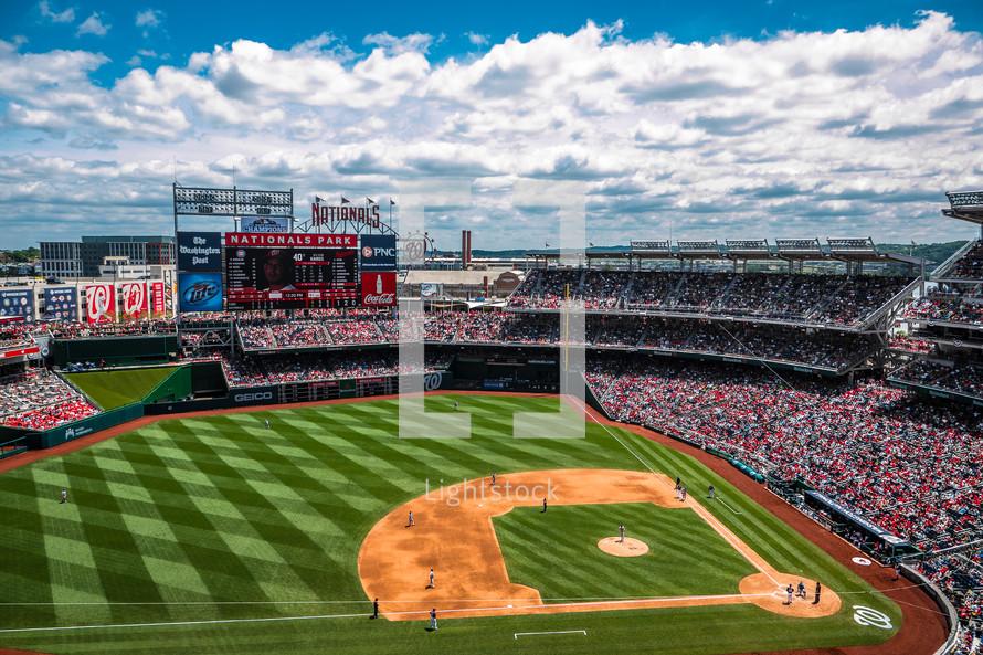 National' Park, packed baseball stadium
