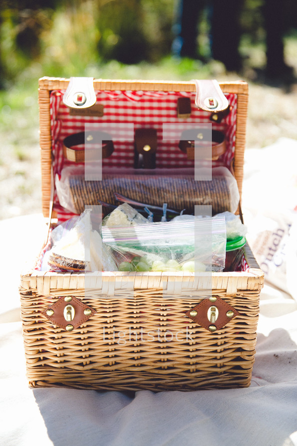 A full picnic basket.