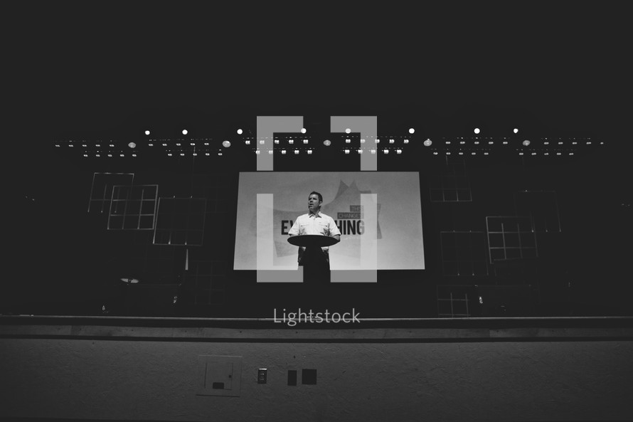 preaching on stage