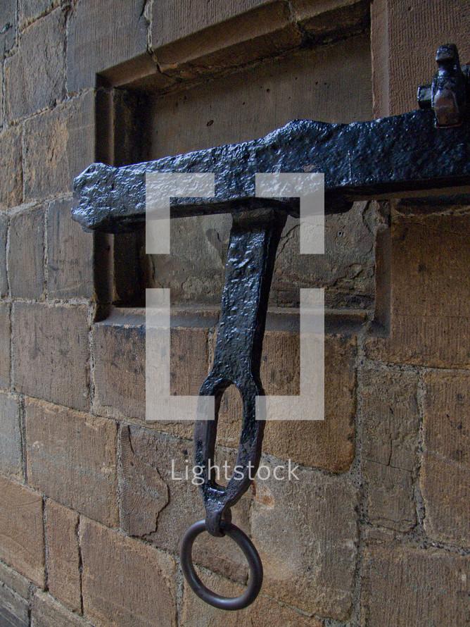 old metal gate door lock