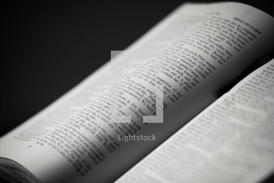 An open Bible.