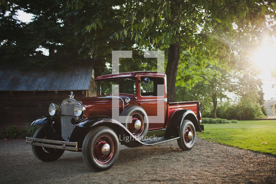 Old fashioned truck