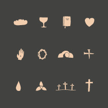 hand drawn Easter icons