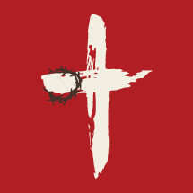 illustration of a crown of thorns on a cross.