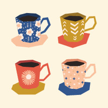 decorative coffee mugs
