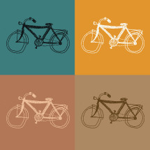 hand drawn bicycles