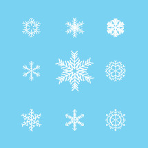 Hand drawn vector snowflakes.