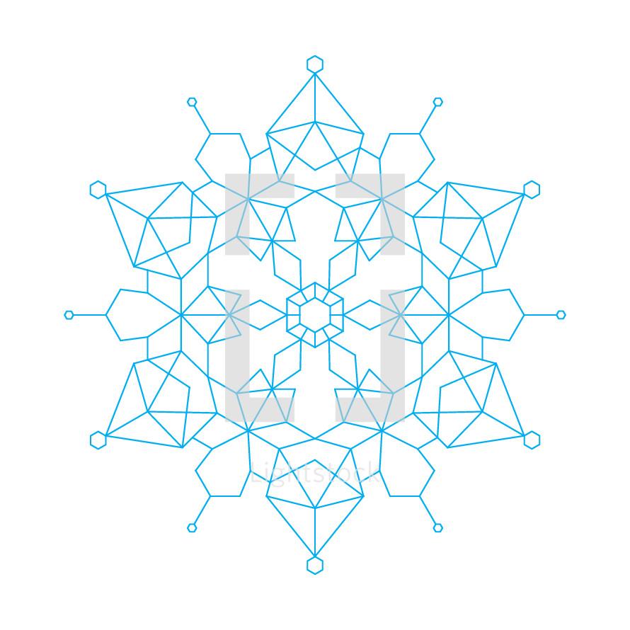 geometric snowflake illustration